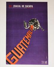 1971 Original Cuban Poster.Cold War vintage art.Guatemala.Chacal Zacapa.Dictator