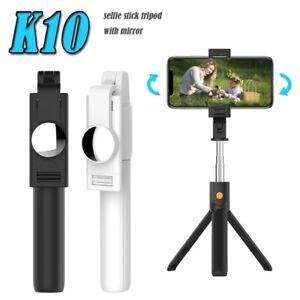 Smart Clamp Foldable Tripod Removable Bluetooth Remote Control Selfie Stick