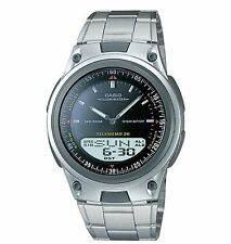 Casio AW80D-1AV, Combo Watch, Databank, Metal Band, 3 Alarms, 10 Year Battery