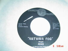 EX+:REGIS,AUTUMN FOG ,MOD SOUL,OHIO,LIGHT FUNK M-TO NM  45 vinyl