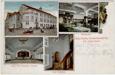 Hotel Haufe grossröhrsdorf / SA mehrf. Cartolina gelaufen 1910