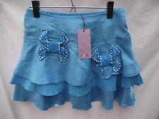 ~BNWT Ladies Sz 12/14 IKO Brand Cute Aqua Rhinestone Detail Mini Skirt RRP $40~