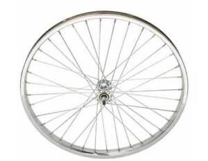 "Bicycle Front Wheel Steel 24"" X 2.125 Heavy Duty 12G Spokes Bikes"