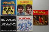 MONKEES 5x PICTURE SLEEVES Original 60s AUSTRALIA Davy Jones Oh My PORPOISE SONG