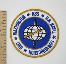 Us Navy Patch Naval Communication Unit Washington Original