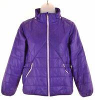 NIKE Girls Quilted Jacket 10-11 Years Medium Purple Nylon  GU03