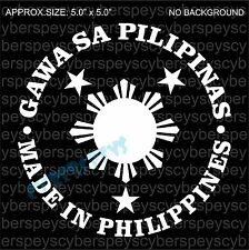 Made in Philippines Art Design Car Vinyl Sticker Decals