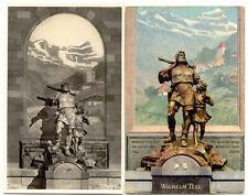 SCHWEIZ ALTDORF, 1910/20 ungebr. farbige + s/w RP AK Telldenkmal, gute Erhaltung