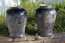 Antique Chinese  Vases Jars Qing LARGE Flammable