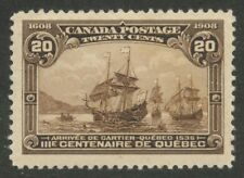 Canada 1908 Quebec Tercentenary 20c brown #103 VF mlhm