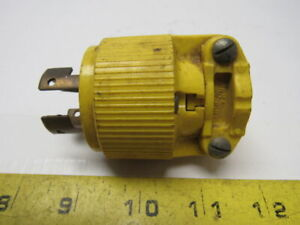 PASS & SEYMOUR Turnloc Yellow Male Plug Connector 20A 250V 10A 600V