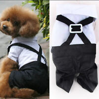 Gentleman Dog Puppy Formal Suit Prince Apparel Wedding Bowtie Outfit Costume