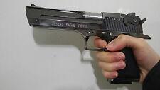 22cm Desert Eagle Lighter model toy silver color dummy prop hammer slide move DE