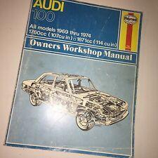 Haynes Audi 100 Owners Workshop Manual 1969 - 1977 L. P. Ward #162