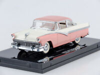 Scale model car 1:43 1956 Ford Fairlane Hard Top (Sunset Coral/Colonial White)