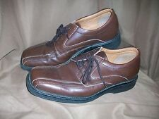 *USED* *WORN* MERONA MENS SIZE 8 BROWN LEATHER OXFORDS DRESS SHOES