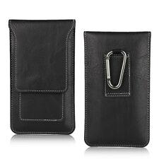For Sony Xperia X Genuine Leather Black Tradesman Case Belt Clip Case Cover