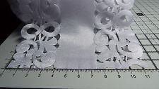 2m -White, Satin,Openwork,Lace Ribbon - Applique, Trimmings,Wedding -Width 11cm