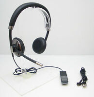 PLANTRONICS BLACKWIRE C720 BINAURAL STEREO USB BLUETOOTH OVER-THE-HEAD HEADSET