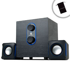 USB Computer Speakers with Subwoofer & Dual Satellite Speakers