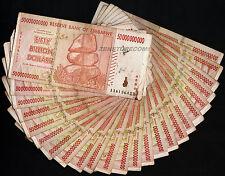 50 Billion Zimbabwe Dollars x 25 Bank Notes ¼ Bundle AA AB 2008 25PCS Collection