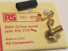 SMA CABLE crimpare FEMMINA JACK PANNELLO PER RG174 rg188 RG316 RS 111-677 ad2z9