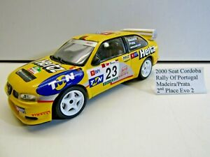 Altaya ? 1:43 Scale Die-cast Model 2000 Seat Cordoba Rally of Portugal Madeira
