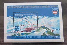 DDR Briefmarken 1975 Block 43 Olympische Winterspiele 1976 Postfrisch