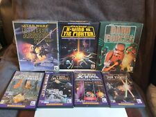 PC Games x 12 Star Wars Games. Retro. Rebel Assault 1 & 2, Dark Forces, X-Wing
