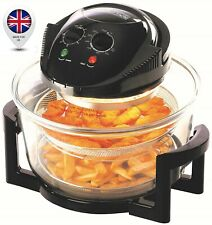 Large Halogen Convection Oven Multi-function Cooker Low Fat Fryer 17Litre Black