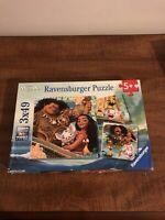 Ravensburger Disney Moana Puzzle 3 X 49 Pieces Born to Voyage Complete!