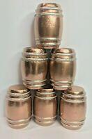 G SCALE COPPER STILL KEGS BEER/WINE BARRELS 1/24 MODEL TRAIN CARGO 6 KEGS SET