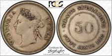 1893 Straits Settlement 50 cent PCGS graded VF 35 - Ultra rare key date!