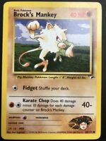 Carte Pokemon BROCK'S MANKEY 68/132 Gym Hereos Wizard Near Mint