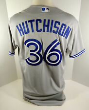2016 Toronto Blue Jays Drew Hutchison #36 Game Issued Grey Jersey 40th Anv Patch