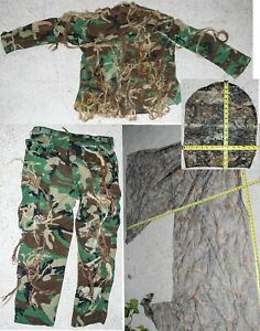 Camouflage DIY Ghillie Suit For Hunting Paintball Airsoft Camo *Home Made* SM/MD