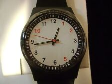 VTG OLD NEW STOCK RETRO 1980S SWEDA WATCH WHITE FACE RED BLACK MENS / LADYS NIB