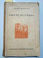 1935 - I Guerra mondiale - MARPICATI, Arturo. LIRICHE DI GUERRA