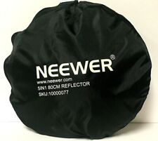 NEEWER 32-Inch 80CM Portable 5 in 1 Collapsible Round Multi Disc Light Reflector