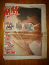 MELODY MAKER 1981 SEP 19 IAN DURY BOW WOW SIMPLE MINDS