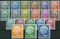 Saarland 409 - 428 sauber postfrisch Heuss 1957 Michel 60,00 € MNH