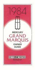 1984 Mercury Grand Marquis Owners Manual User Guide Operator Book Fuses
