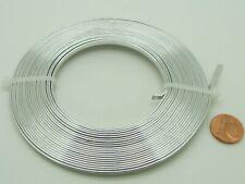 5 mètres fil aluminium plat 3x1mm argenté ruban métal souple rouleau décoration