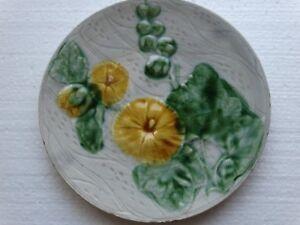 Jugendstil - Keramikteller gelbe Blumen