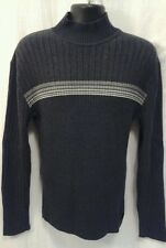 Calvin Klein Large Sweater Mock Turtle Neck Lg Sleeve Cotton GRAY