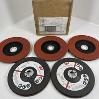 "3M 61197 Abrasive Flap Disc 947D, Type 27, 7"" in x 7/8"" in Grade 80 QTY (5)"
