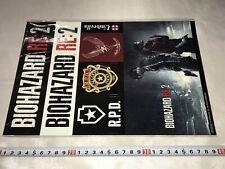 BIOHAZARD Resident Evil 2 Remake RE Big Size Promo Sticker Set Jp Jap JAPAN PS4