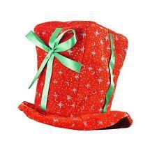 Adult Christmas Present Hat Plush Santa Gift Festive Fancy Dress Accessory