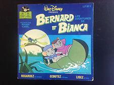 Livre disque 45 T Bernard et Bianca Walt Disney