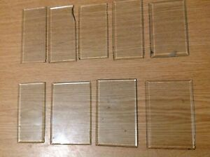 Carriage Clock Glass BEVELLED Edge Ex Clockmakers Reclaimed Seconds Spare Parts